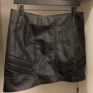 Black Leather Blank NYC Skirt - Size 30